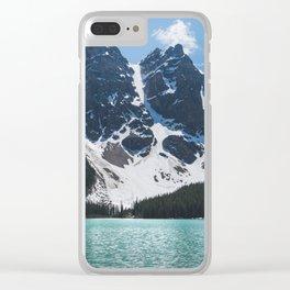 Landscape | Lake Moraine | Alberta | Wild | Nature Clear iPhone Case