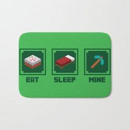 Eat, Sleep, Mine Bath Mat
