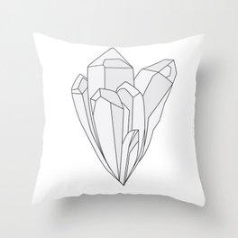 Crystal: Quartz Throw Pillow