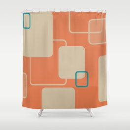 cushion cover — mid-century pattern; orange Shower Curtain