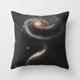 Pair of Galaxies Throw Pillow