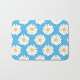 Spring Daisies_Blue Sky Bath Mat