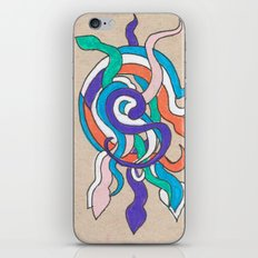 snake knot iPhone & iPod Skin