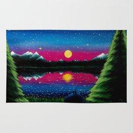 Summer's Final Moon Rug