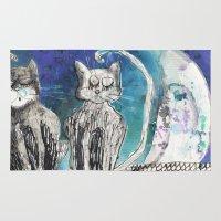 kittens Area & Throw Rugs featuring kittens by Agata Kowalska