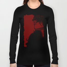 Smoking (Black on Red Variant) Long Sleeve T-shirt