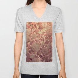 Rose Gold Cactus Unisex V-Neck