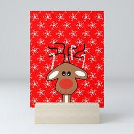 Christmas Winter Reindeer Mini Art Print