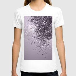 Sparkling Lavender Lady Glitter #1 #shiny #decor #art #society6 T-shirt