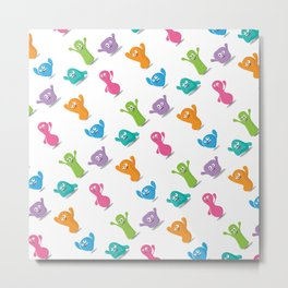 Friendly jelly monsters Metal Print