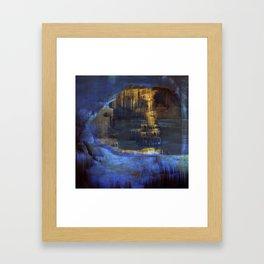Cave 03 / The Interior Lake / wonderful world 10-11-16 Framed Art Print