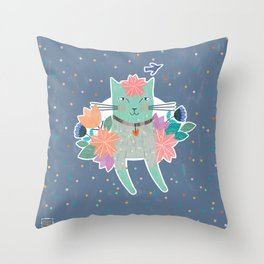 Gorgeous Cat Throw Pillow