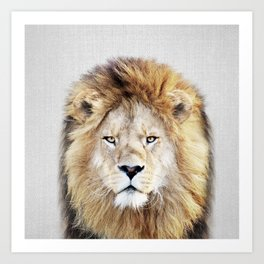 Lion 2 - Colorful Art Print