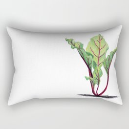 Red beet plant pencil drawn Rectangular Pillow