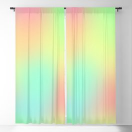 Soft Gradient Design (Pastel Pink, Yellow, Blue, and Green) Blackout Curtain