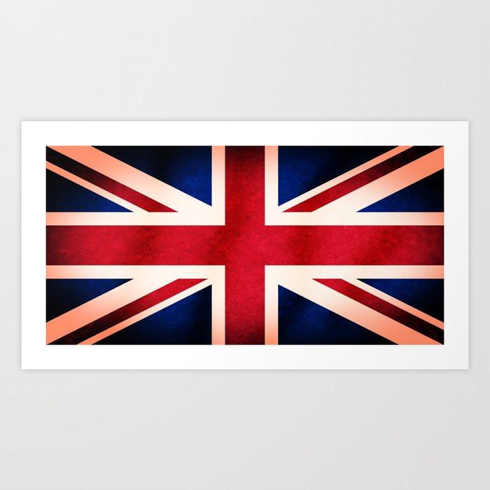Union Jack UK British Grunge Flag  Kunstdrucke