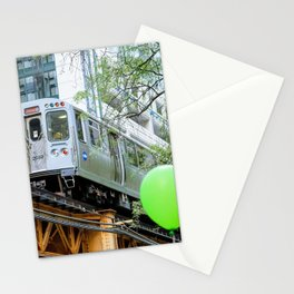 Chicago midway train Stationery Cards