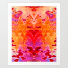 Drippy Art Print