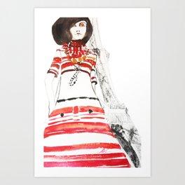 Paris 70's Art Print