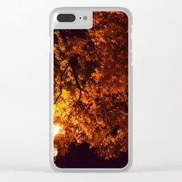 Shot in Fire Clear iPhone Case