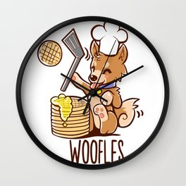 Im Making Woofles Wall Clock