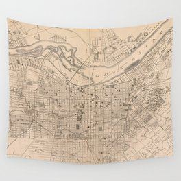 Vintage Map of Louisville Kentucky (1873) Wall Tapestry