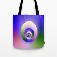 egg Tote Bags featuring Egg by Objowl