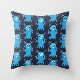 Undiscovered Sea Creatures Throw Pillow