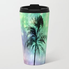 Grass Collage Purple & Green Lights Travel Mug