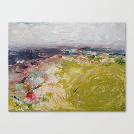 Sea scape inspired by Camille Pissarro  Canvas Print