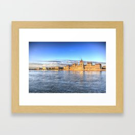 Budapest River Danube Sunset Framed Art Print