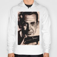james bond Hoodies featuring Sean Connery as James Bond by Caroline Ward