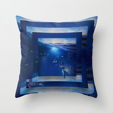 Swim the Seas Throw Pillow