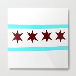 Chicago Flag (traditional) Metal Print