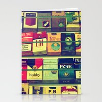 cigarette Stationery Cards featuring cigarette collection by gzm_guvenc