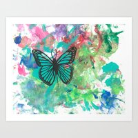 Simple Butterfly Art Print