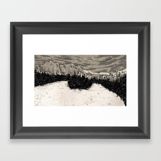 Winter Scene  Framed Art Print