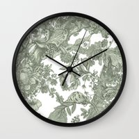 leaf Wall Clocks featuring Leaf  by Maethawee Chiraphong