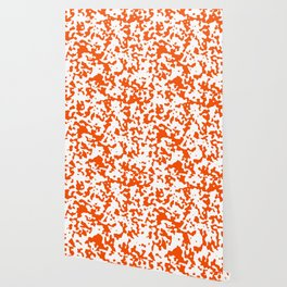 Spots - White and Dark Orange Wallpaper