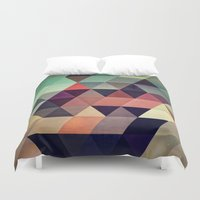 geometric Duvet Covers featuring tryypyzoyd by Spires