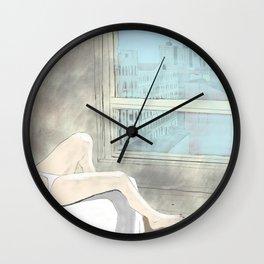 Woman at a New York Evening Siesta Wall Clock