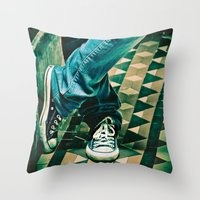 converse Throw Pillows featuring Icon Converse by Sparrow House Photography