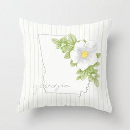 Georgia Cherokee Rose Throw Pillow