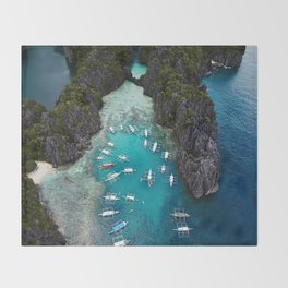 Island hopping in the Philippines Throw Blanket