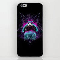 three of the possessed iPhone & iPod Skins featuring Possessed Panda by pigboom el crapo