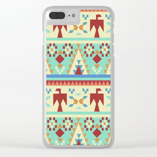 American Native Pattern No. 34 Clear iPhone Case