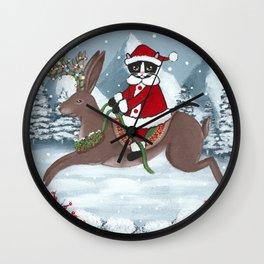 Santa Claws and the Jackalope Wall Clock