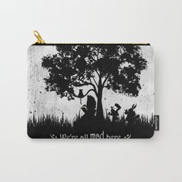 We're All Mad Here Alice In Wonderland Silhouette Art Carry-All Pouch