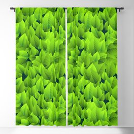Green leaves pattern Blackout Curtain