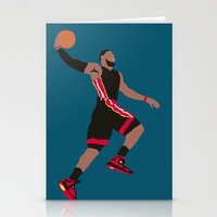 lebron Stationery Cards featuring Lebron by rusto